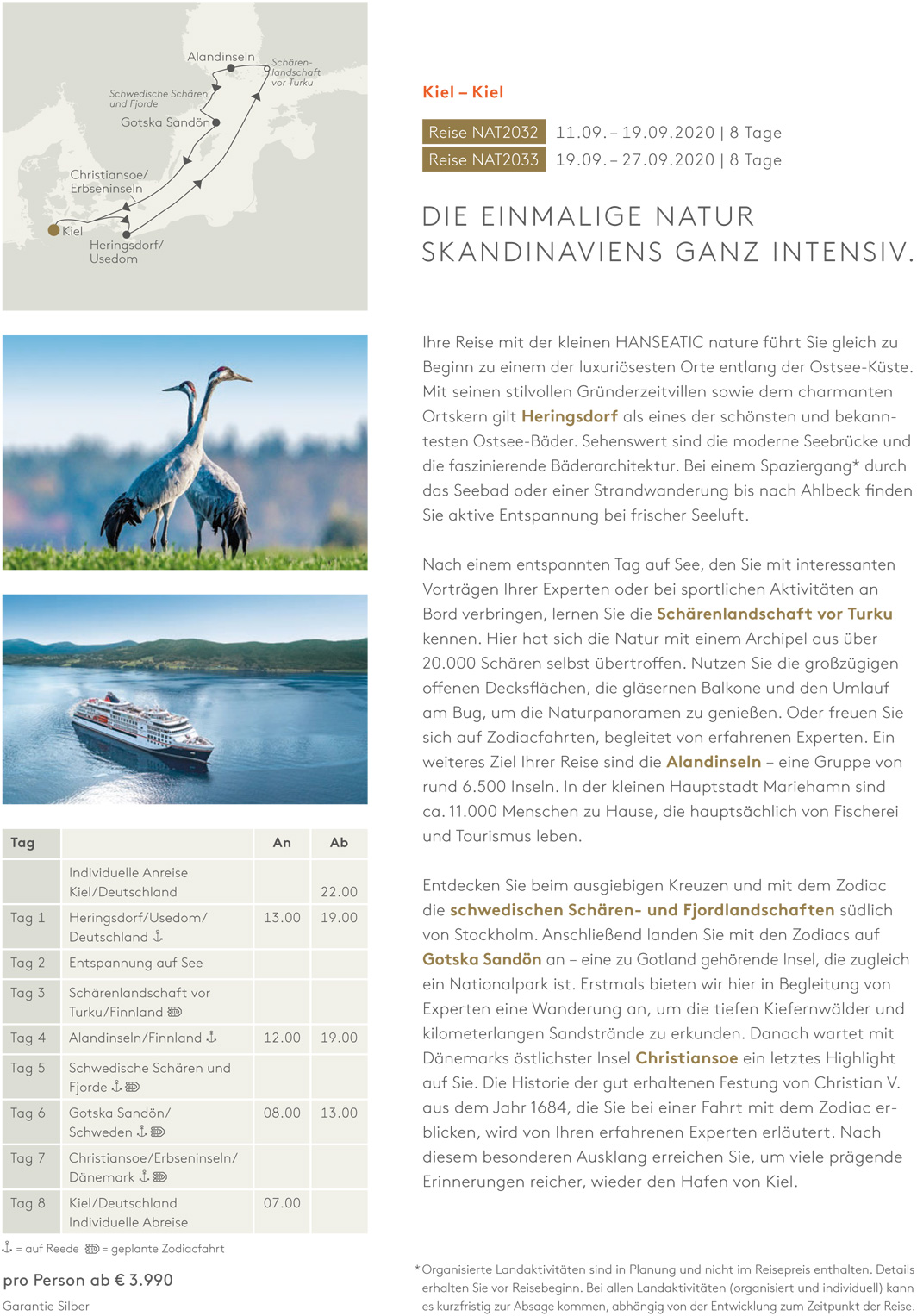 HANSEATIC nature - Reise 1